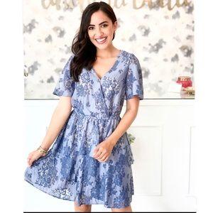 Andree by Unit blue crochet dress size M